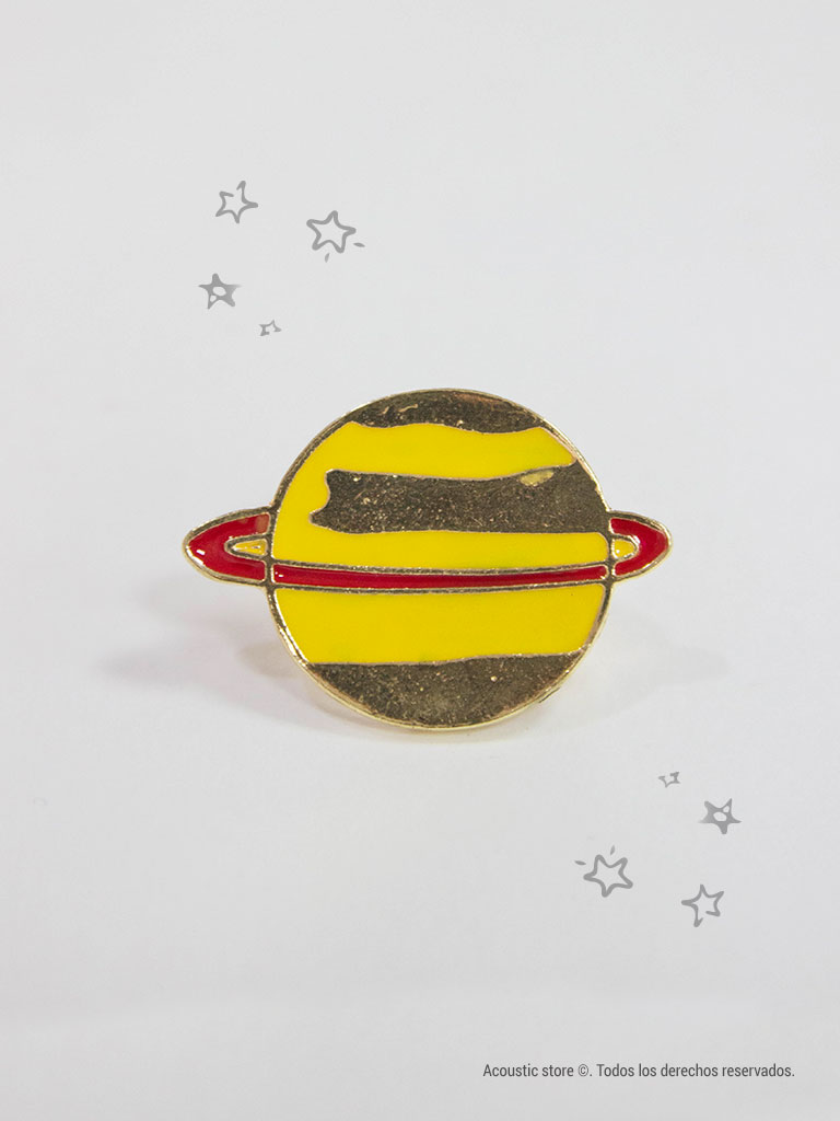 Pins yellow planet