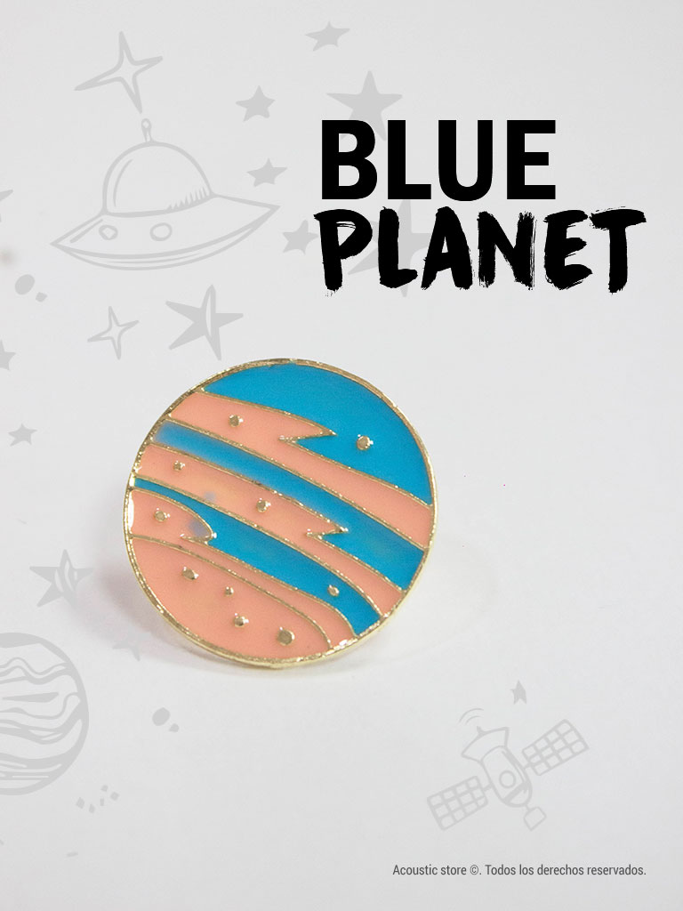 Pins blue planet