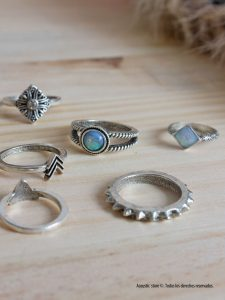Pack anillos hippie chic