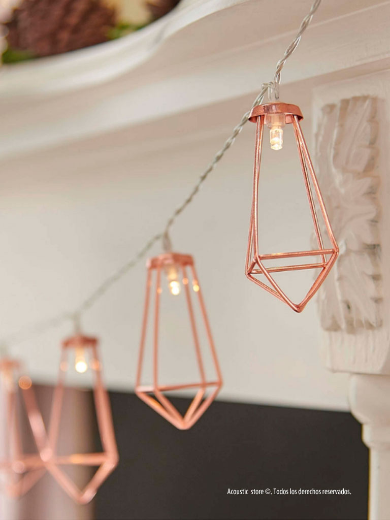 luces rose gold