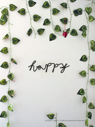 Happy letras decorativas