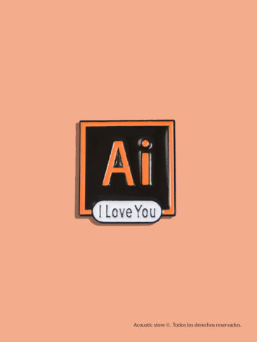 Illustrator i love you pin