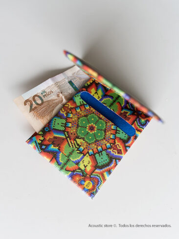 Billetera de papel mandala de colores